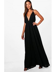 Tall Emily Plunge Strappy Woven Maxi Dress afbeelding