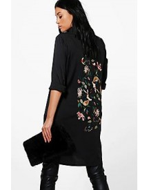 Tall Tiah Premium Embroidered Back Woven Shirt afbeelding