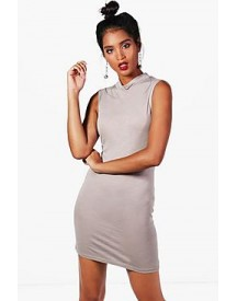 Tayla High Neck Bodycon Dress afbeelding