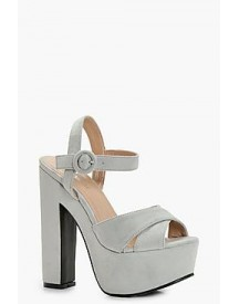 Willow Platform Cross Strap Heels afbeelding