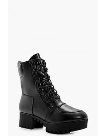 Yasmin Lace Up Hiker Boot With Platform afbeelding