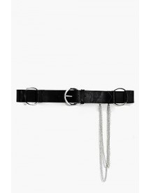 Zoe Large O-ring Chain Detail Belt afbeelding