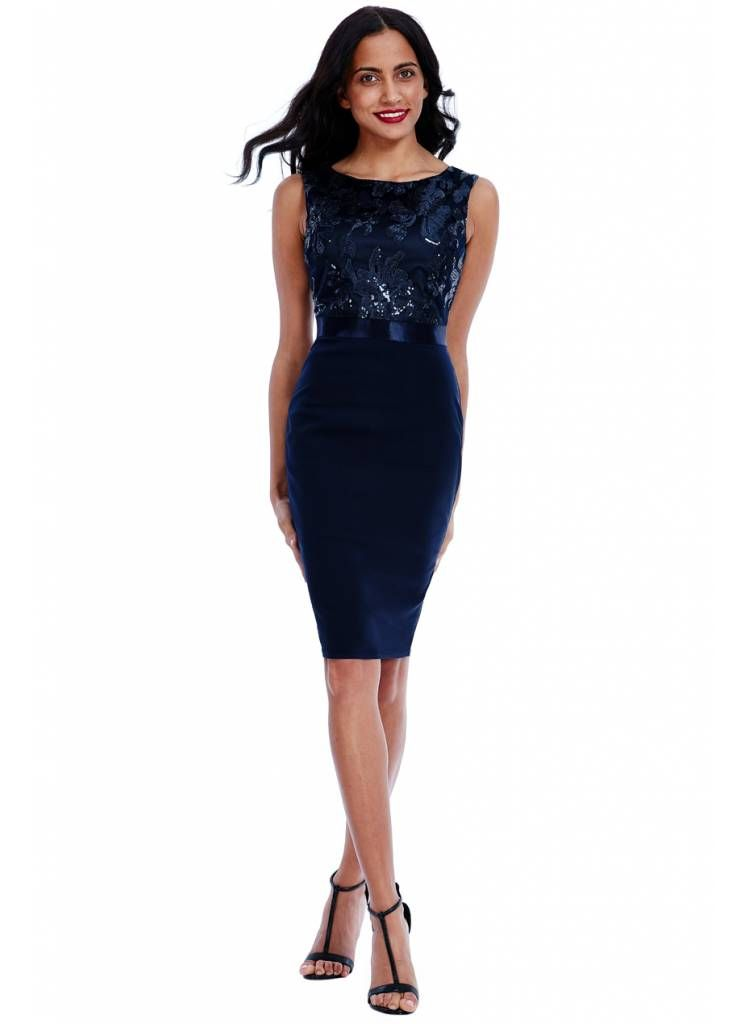 Image Totally Perfect Cocktailjurk Tp957- Navy