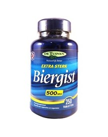 Holland & Barrett Biergist 500mg 250 Tabletten afbeelding