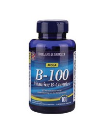 Holland & Barrett Vitamine B 100mg Complex 100 Tabletten afbeelding