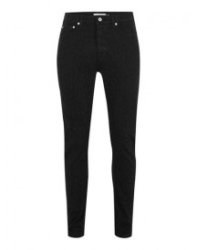 Black Leopard Print Tapered Jeans afbeelding