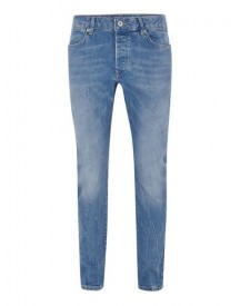 Bright Blue Stretch Slim Jeans afbeelding