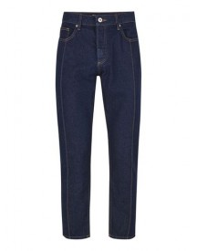 Indigo Front Seam Tapered Jeans afbeelding