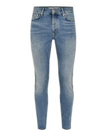 Light Wash Stretch Skinny Jeans With Side Taping afbeelding