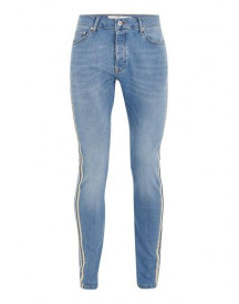 Light Wash With Ecru Side Taping Jeans afbeelding