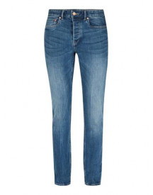 Washed Blue Stretch Slim Jeans afbeelding