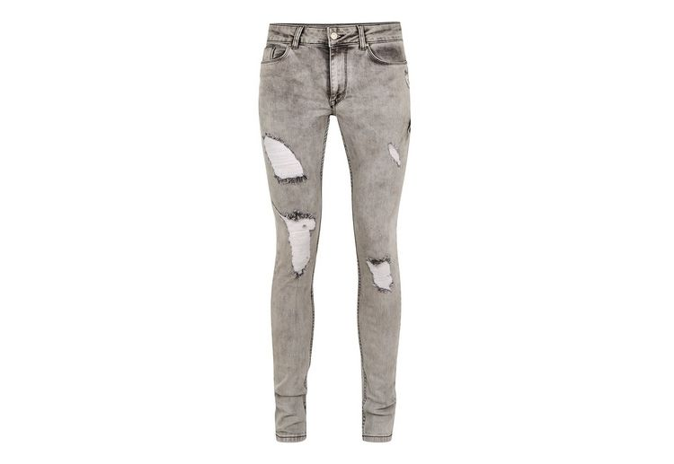Image Antioch Washed Grey Spray On Skinny Jeans*
