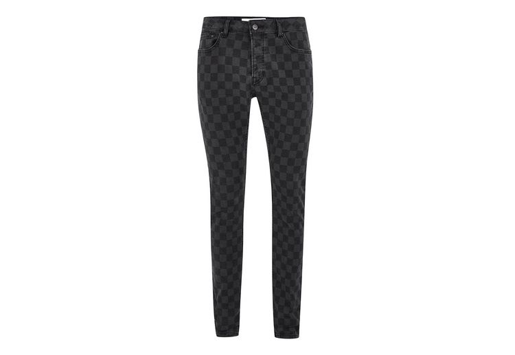 Image Black Checkerboard Skinny Jeans