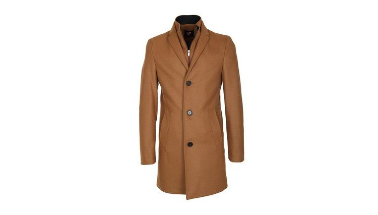 Image Suitable Coat Hans Wol Camel