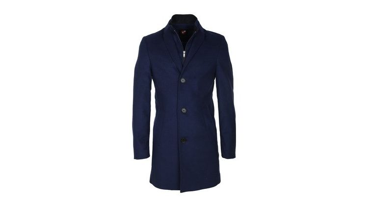 Image Suitable Coat Hans Wol Kobalt