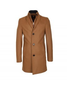 Suitable Coat Hans Wol Camel afbeelding