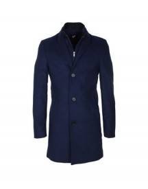 Suitable Coat Hans Wol Kobalt afbeelding