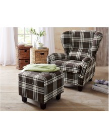 Home Affaire Fauteuil En Hocker Oliver afbeelding