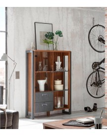 Home Affaire Highboard Detroit, Met 2 Laden, Hoogte 140 Cm, In Trendy Industrial-look afbeelding