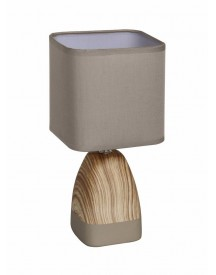 Näve Tafellamp, Met 1 Fitting, Hout-look In 3 Kleurvarianten, Home Lights Classic afbeelding