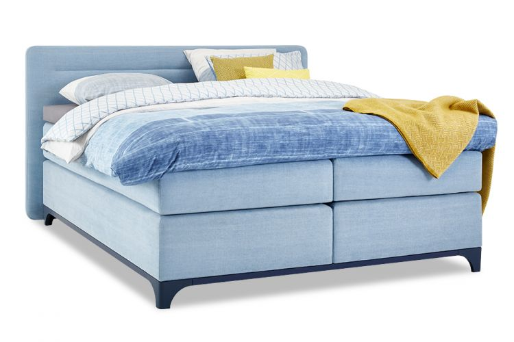Image Boxspring Ultimate Sleep Vlak Met Gestoffeerde Matrassen Slow Motion 3