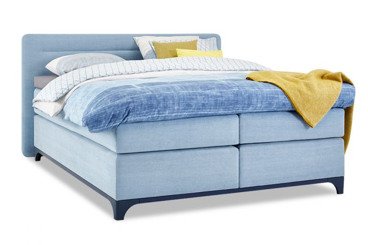 Image Boxspring Ultimate Sleep Vlak Met Gestoffeerde Matrassen Slow Motion 4