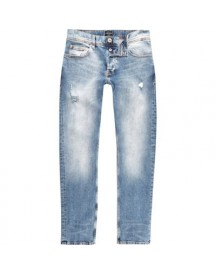 Dylan - Middenblauwe Wash Distressed Slim-fit Jeans afbeelding