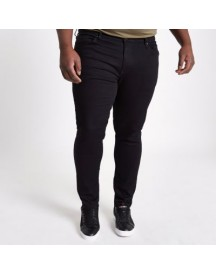 Ri Big And Tall - Sid - Zwarte Skinny Jeans afbeelding