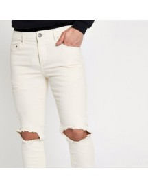 Sid - Crème Ripped Skinny Jeans afbeelding