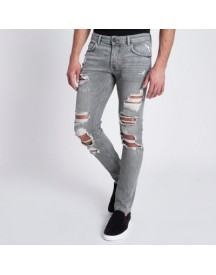 Sid - Grijze Ripped Skinny Jeans afbeelding
