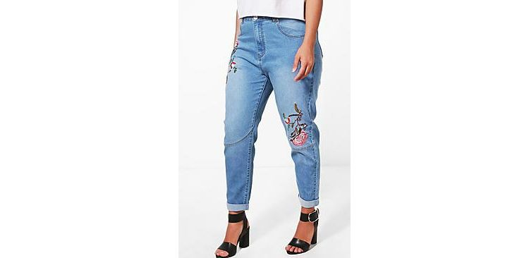 Image Plus Orla Embroidered Skinny Jean