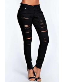 Abby High Rise Heavy Ripped Super Skinny Jeans afbeelding