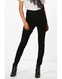 Abby High Rise Super Distressed Skinny Jeans afbeelding