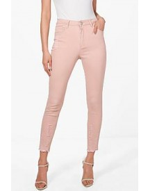 Abby Pink Ripped Skinny Jeans afbeelding