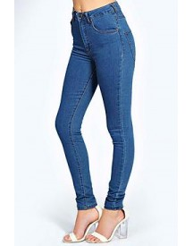 Charlie Super High Waisted Mid Wash Jeans afbeelding