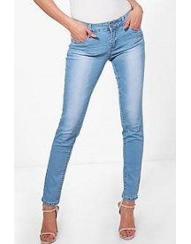 Jaclyn Light Wash 5 Pocket Skinny Jeans afbeelding