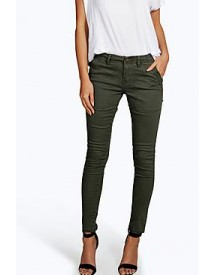 Jessica Cropped Low Rise Utility Skinny Jeans afbeelding