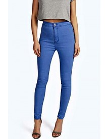Lara True Blue High Rise Tube Jeans afbeelding