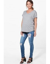 Maternity Ivy Rip Skinny Over The Bump Jean afbeelding
