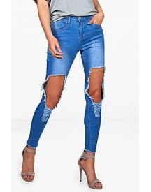 Mia High Waist Distressed Skinny Jeans afbeelding