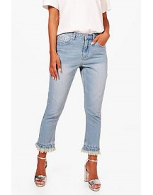 Petite Julia Raw Hem Light Wash Ankle Grazer Jean afbeelding