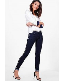 Ria Low Rise Studded Skinny Jeans afbeelding