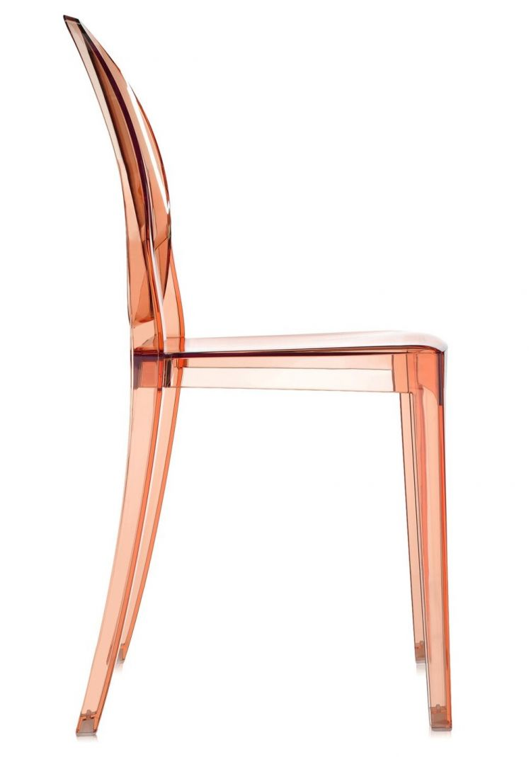 Image Kartell - Victoria Ghost Stoel - Transparant Roze