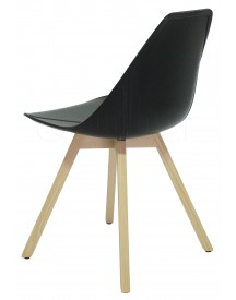 Alma - X-chair Wood - Antraciet afbeelding