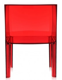 Kartell - Small Ghost Buster Nachtkastje - Transparant Rood (showroom Model) afbeelding