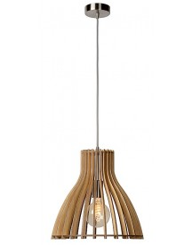 Lucide - Bounde Hanglamp - Licht Hout afbeelding