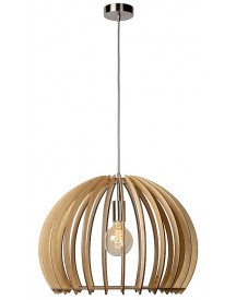 Lucide - Bounde Hanglamp - Licht Hout - Rond afbeelding