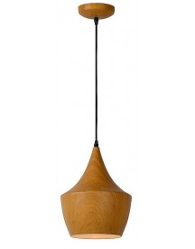 Lucide - Woody Hanglamp - Donker Hout - 4 afbeelding