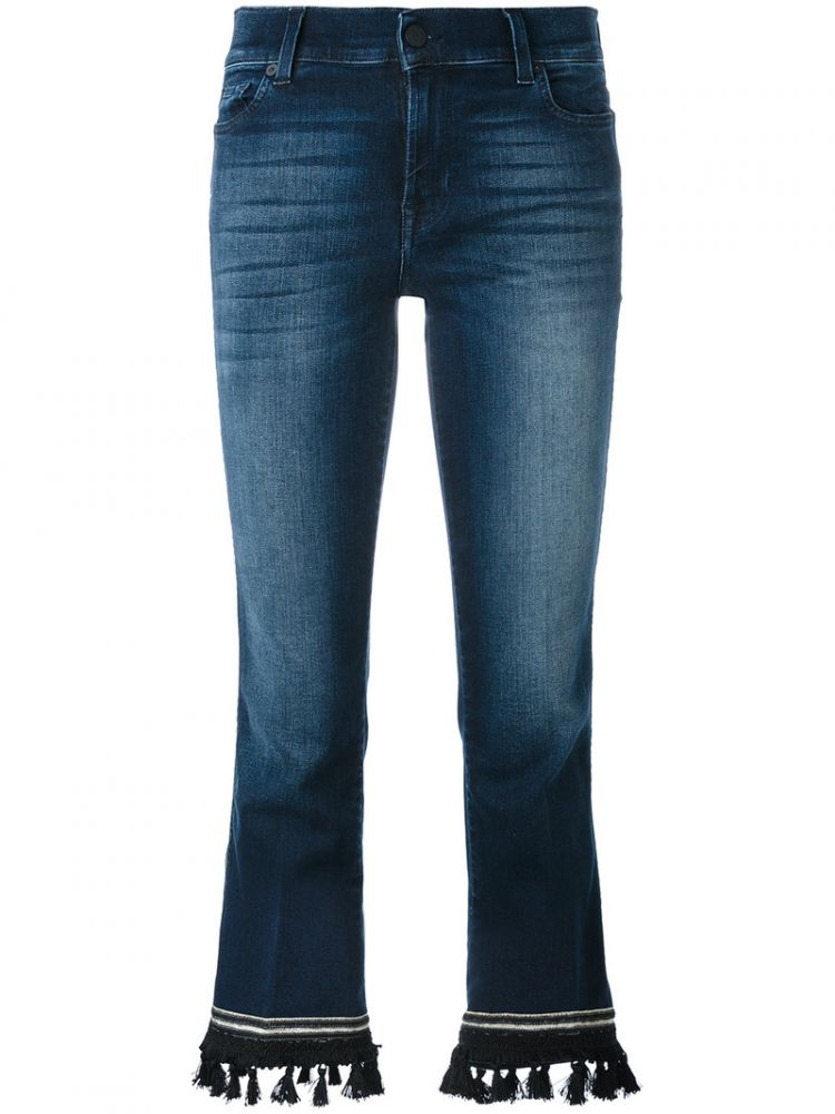 Image 7 For All Mankind - Bootcut Cropped Jeans - Women - Cotton/polyester/spandex/elastane - 29