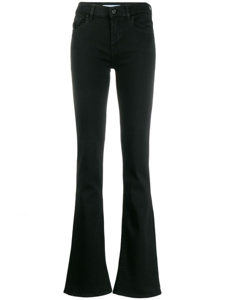 Image 7 For All Mankind Flared Jeans - Zwart